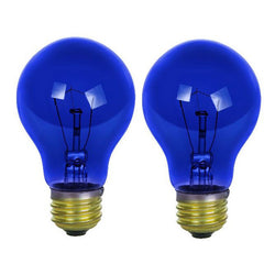 2 PK - SUNLITE 25w A19 120v Transparent Blue Medium Base Bulb