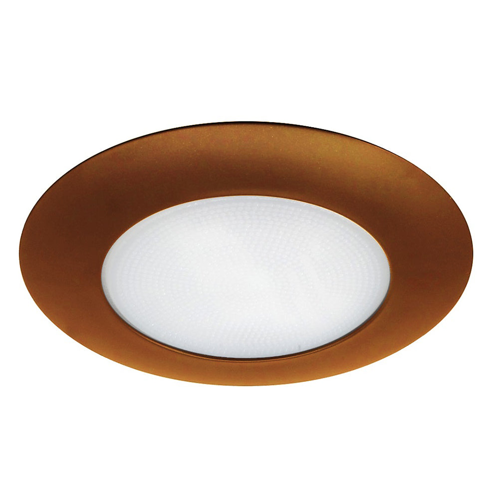 NICOR 6 in. Bronze Recessed Shower Trim with Albalite Lens