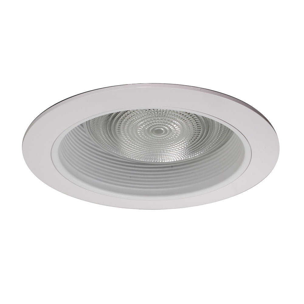 NICOR 6 in. White Recessed Baffle Trim, Single Piece