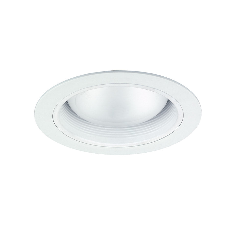 NICOR 6 in. White Cone Baffle Trim