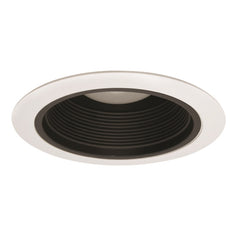 NICOR 6 in. CONE BAFFLE TRIM airtight reflector white trim with black cone
