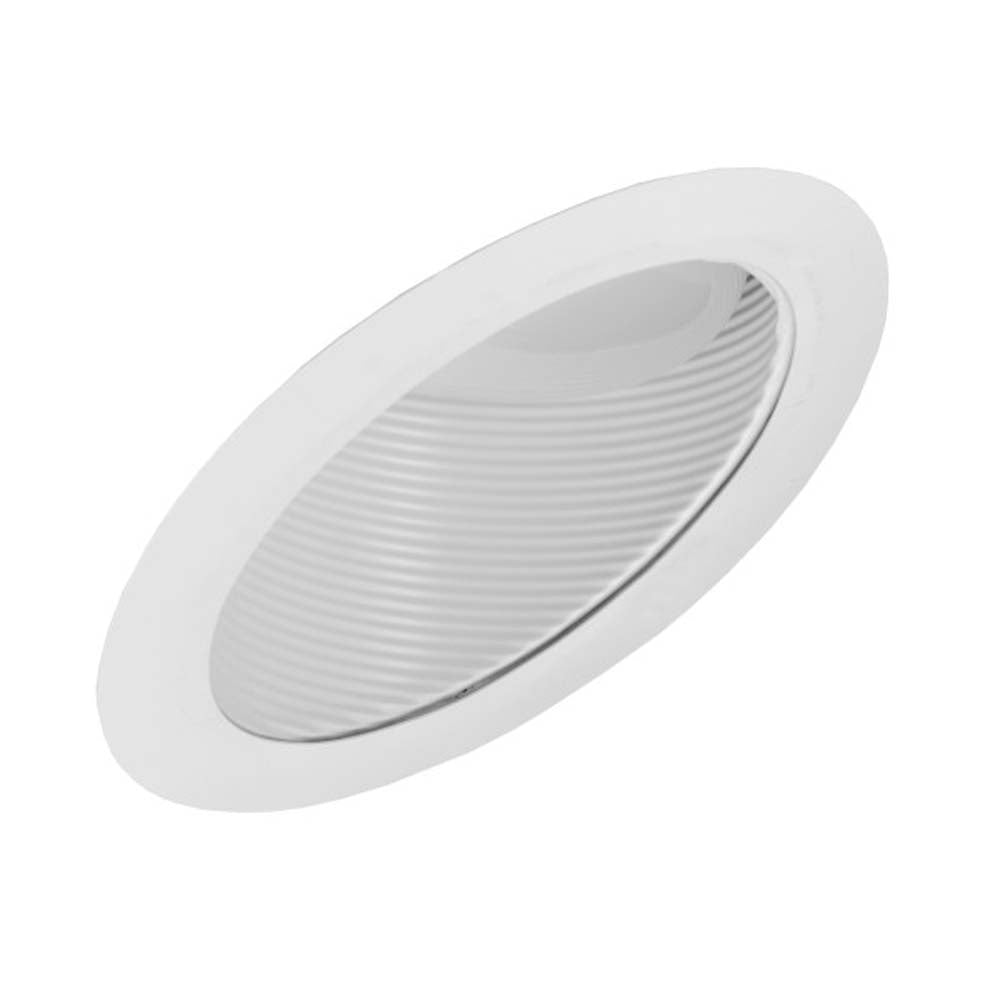 6 in. White Recessed Super Slope Trim with Baffle