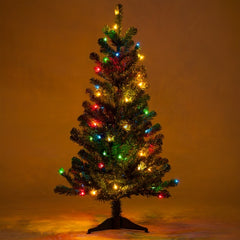 3' Douglas Fir Table Top Tree, Multicolor Lights