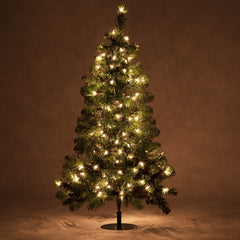 2 Trees - 3' Winchester Fir Walkway Tree, Clear Lights