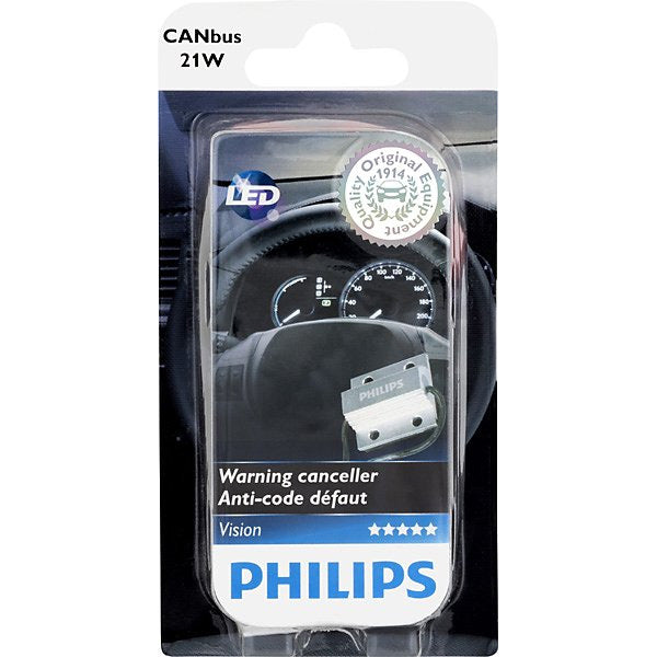 2PK- Philips 21W CANBus Warning Canceller for 7440, 7443, 3157, 1156, 1157 LED