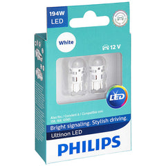 Philips Ultinon LED 194 12V T10 Daylight 6000K Interior Automotive Light Bulb