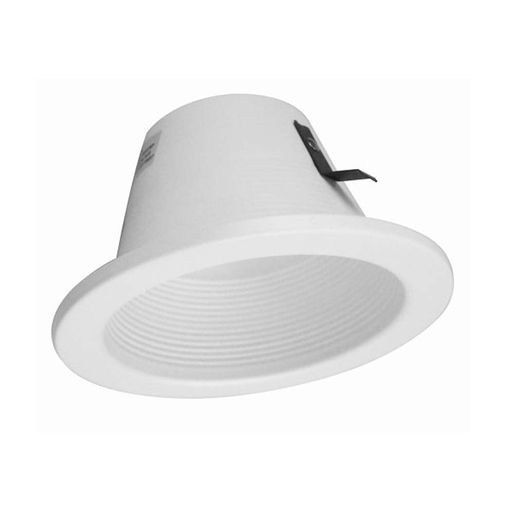 4 in. White Single Piece Baffle Trim, for 4 inch Housings