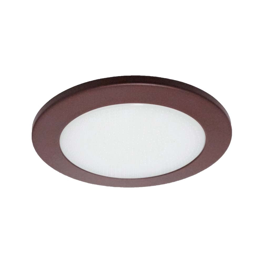 NICOR 4 in. Oil-Rubbed Bronze Recessed Shower Trim with Albalite Glass Lens