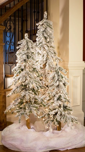 4' Alpine Slender Tree, Clear Lights