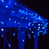70 Blue M5 LED Icicle Light Set with White Wire - BulbAmerica