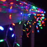 70 Multicolor M5 LED Icicle Light Set with White Wire - BulbAmerica