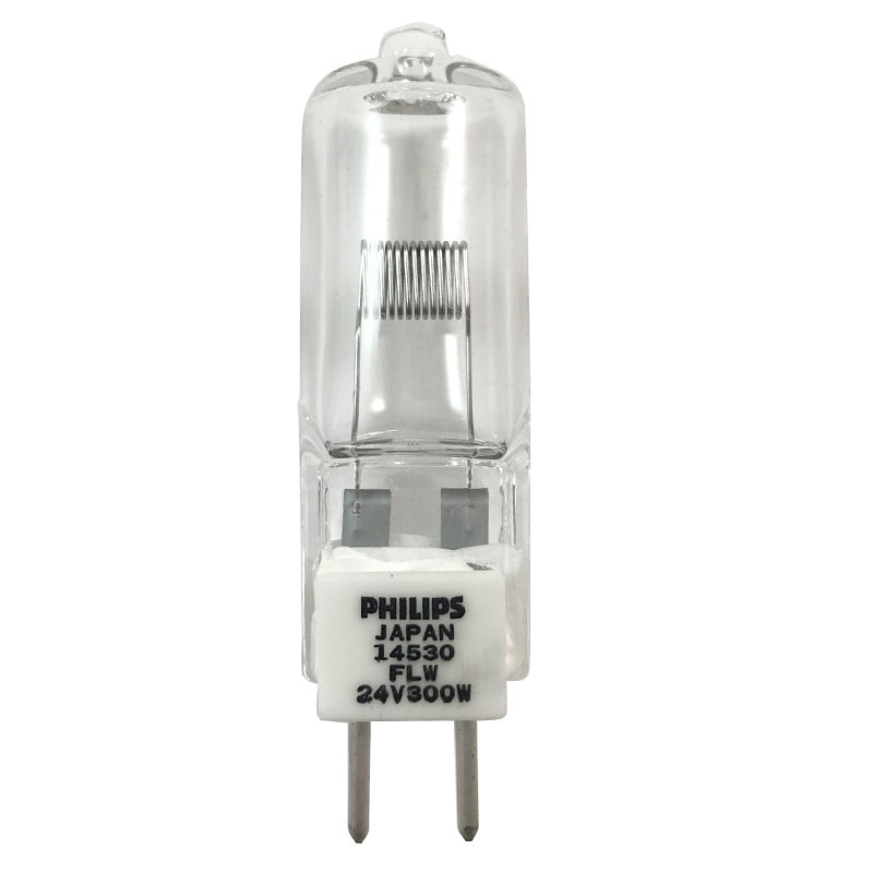 Philips FLW 14530 300w 24v GY6.35 3500k Projection Halogen Light Bulb