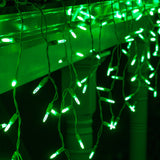 70 Green M5 LED Icicle Light Set with White Wire - BulbAmerica