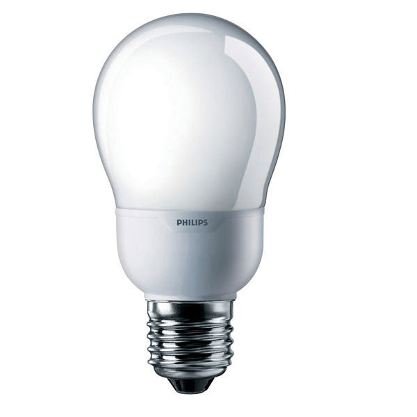 Philips 9w 120v A17 2700K E26 Warm White Fluorescent Light Bulb