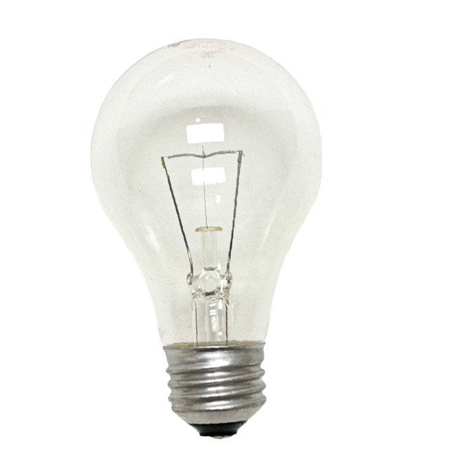 Philips 38w 130v A-Shape A19 Clear E26 Incandescent lamp - 2 bulbs