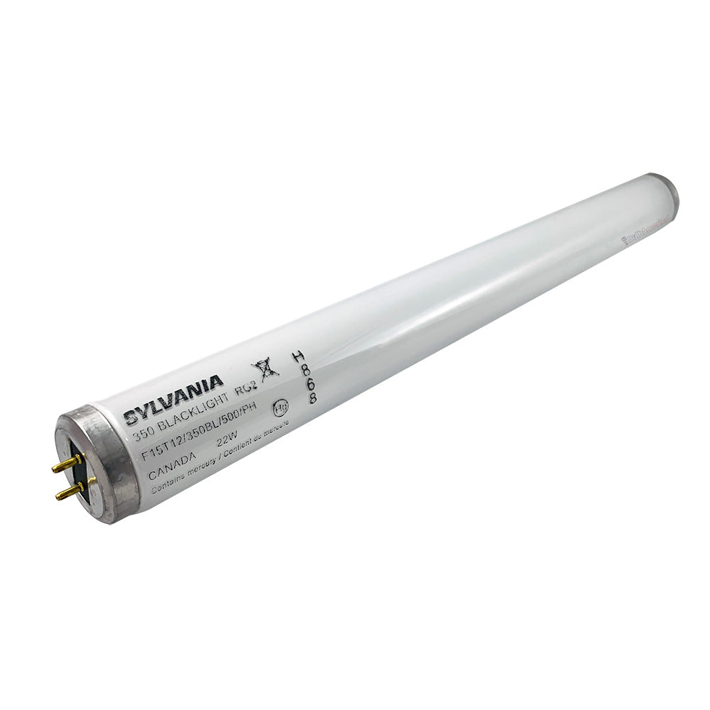 SYLVANIA 22w 15in F15T12/350BL/500/PH Blacklight Fluorescent Tube