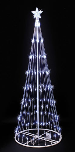6' White LED Lightshow Tree