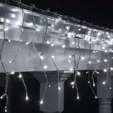 70 Cool White 5mm LED Icicle Light Set with White Wire - BulbAmerica