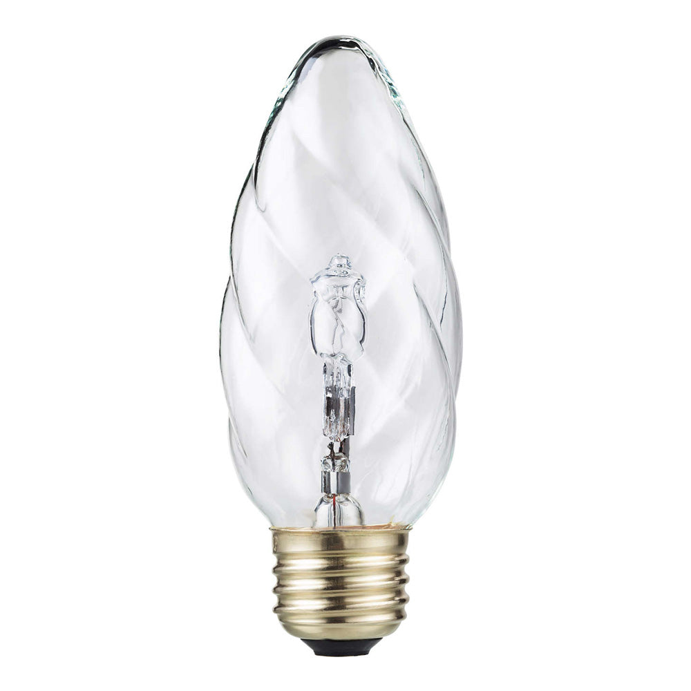 Philips 40w 120v Flame F10.5 E26 base Halogen Decorative Light Bulb
