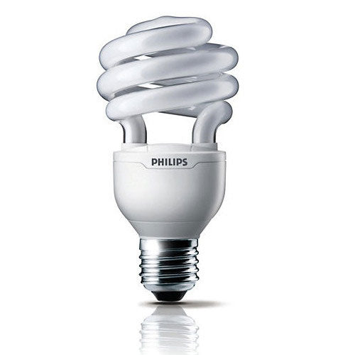 PHILIPS 23W 120V E26 Compact Fluorescent Mini Twist Light Bulb - 4 PACK