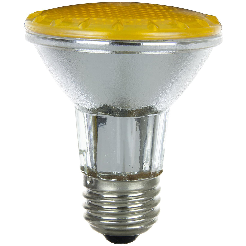 SUNLITE 50w PAR20 Narrow Flood 30 deg. Colored Medium Base Yellow Halogen Lamp