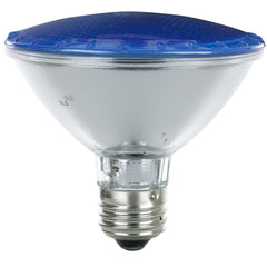 SUNLITE 75w PAR30 Narrow Flood 30 deg. Medium Base Colored Blue Halogen Lamp