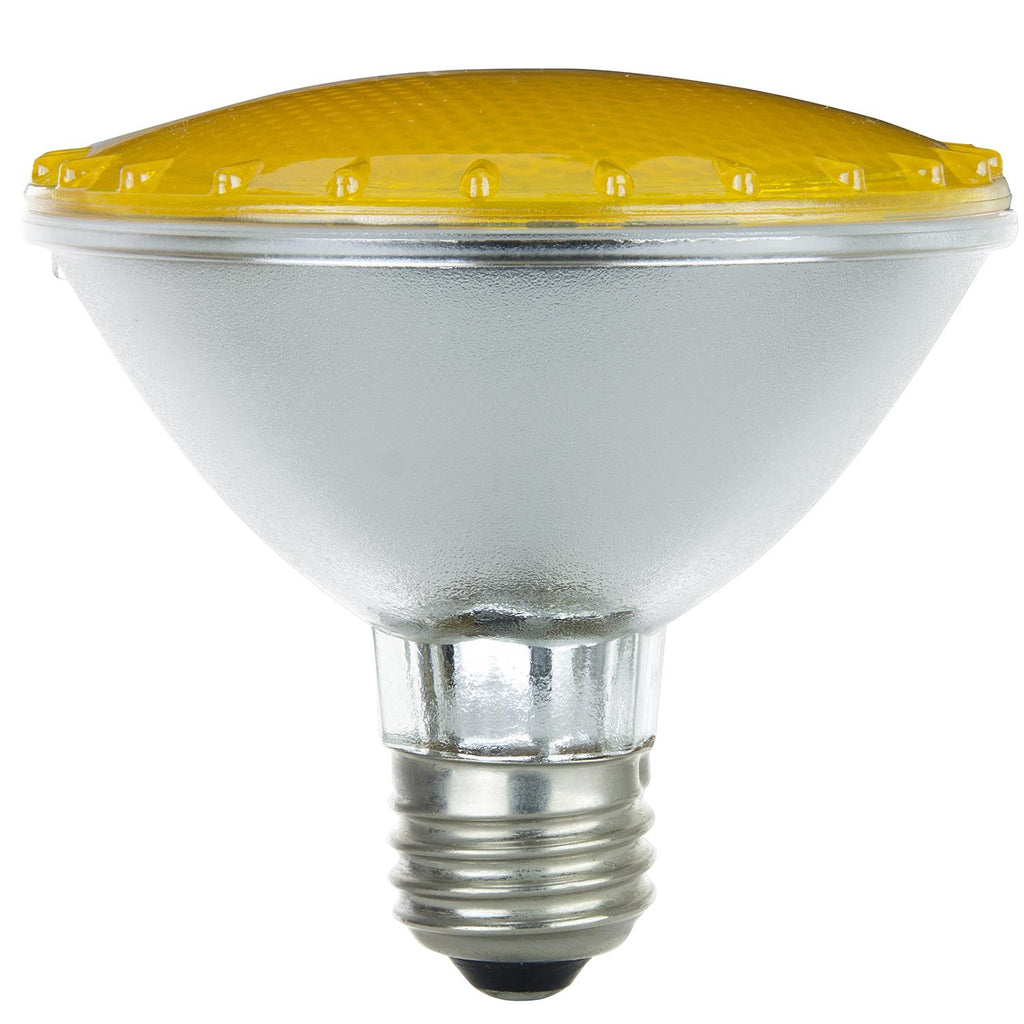 SUNLITE 75w PAR30 Narrow Flood 30 deg. Medium Base Colored Yellow Halogen Lamp