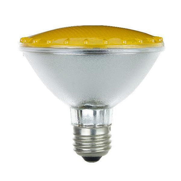 BulbAmerica 75W 120V PAR30 Narrow Flood Yellow Halogen Bulb