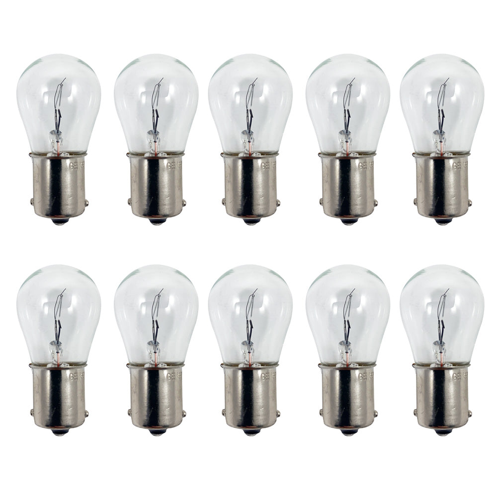10Pk - GE 1665 - 27532 22w 28v S8 BA15s Base Aircraft Low Voltage Light Bulb