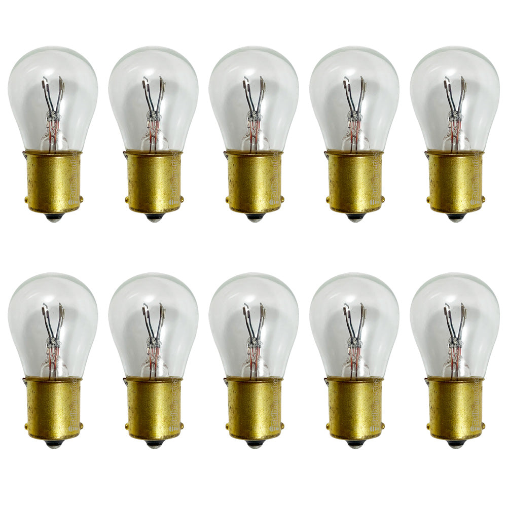 10PK - GE 1691 - 27566 17w 28v S8 BA15s Base Aircraft Low Voltage Light Bulb