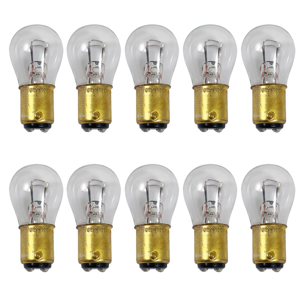 10Pk - GE 1692 - 27571 17w 28v S8 BA15d Base Aircraft Low Voltage Light Bulb