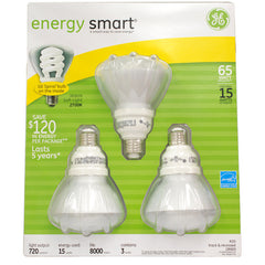 GE 15w R30 CFL bulb Soft White Compact Fluorescent floodlight - 3 bulbs / PK