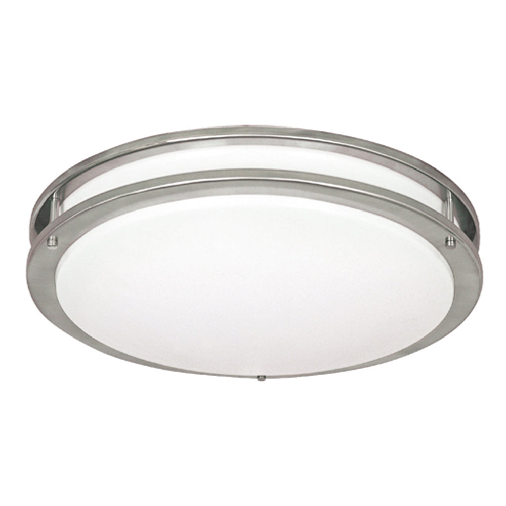 12 in. Ceiling Fixture Nickel with Frosted Acrylic 1X26WGU24