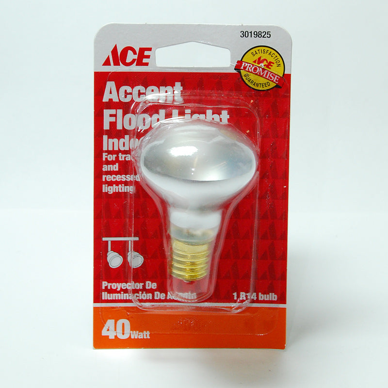 ACE 40w R14 E17 Intermediate base Flood Incandescent Light Bulb