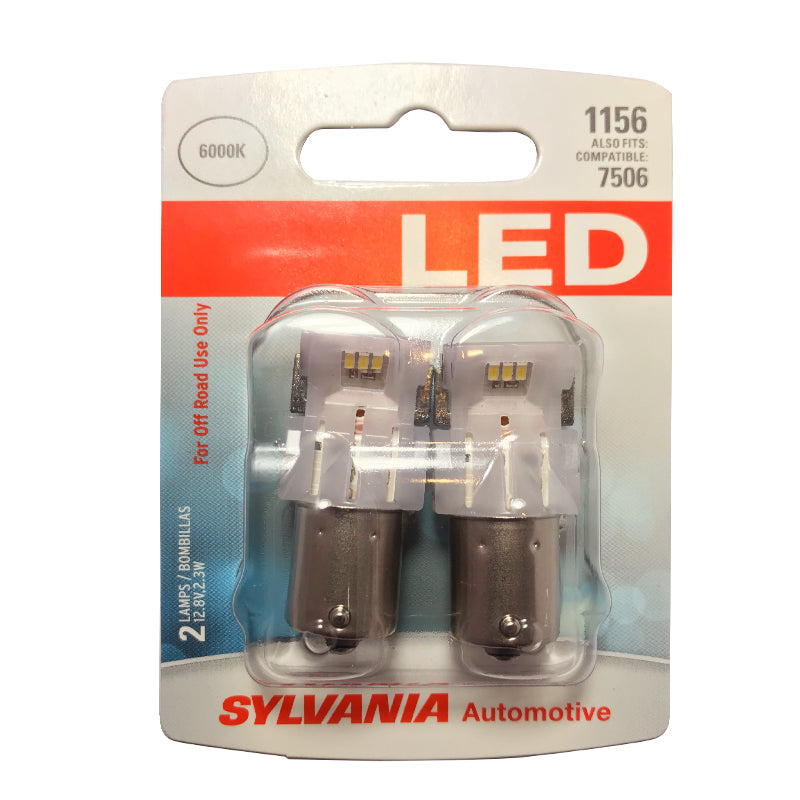 2-PK SYLVANIA 1141 White LED Automotive Bulb