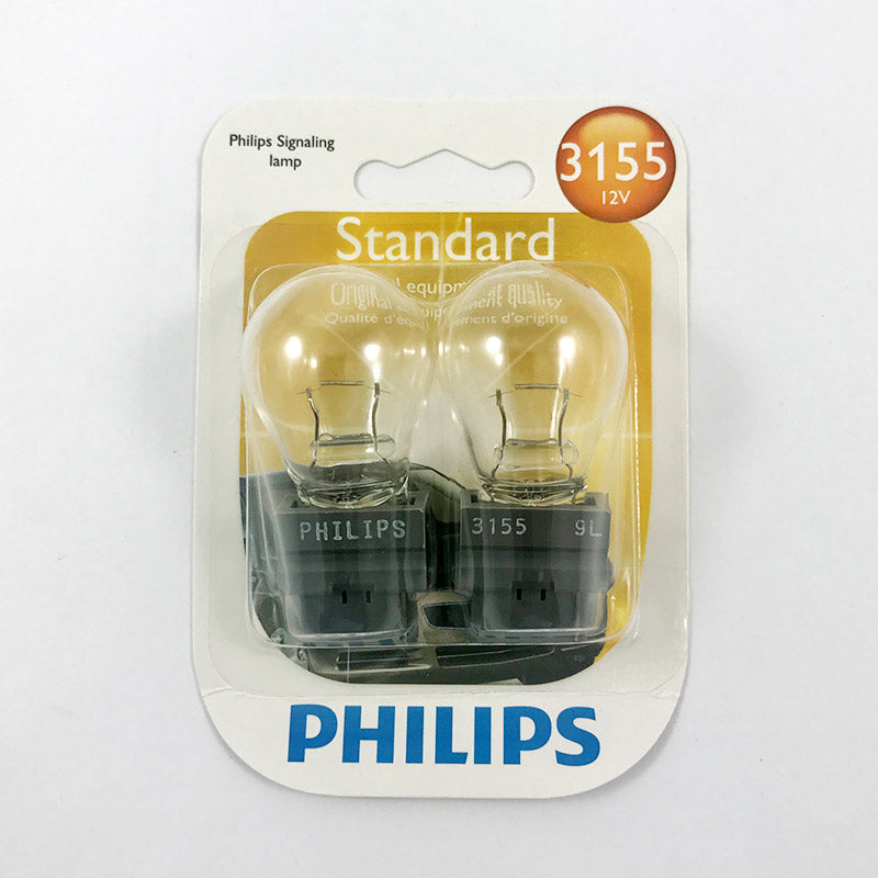 2 Pack- Philips  3155 - 20.48w 12.8v S8 Automotive Light Bulb