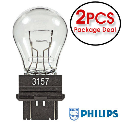 PHILIPS  3157 - 27w 12.8v LL Long Life Automotive Lamp - 2 Bulbs