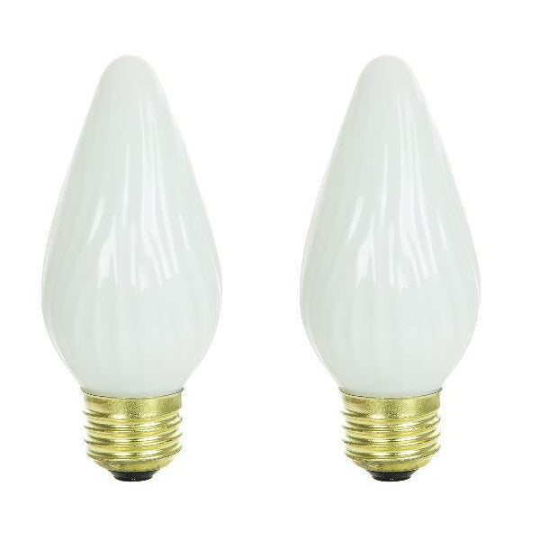 2Pk - SUNLITE 25w 120v E26 Medium Flame Twist White 33010-SU Light Bulb