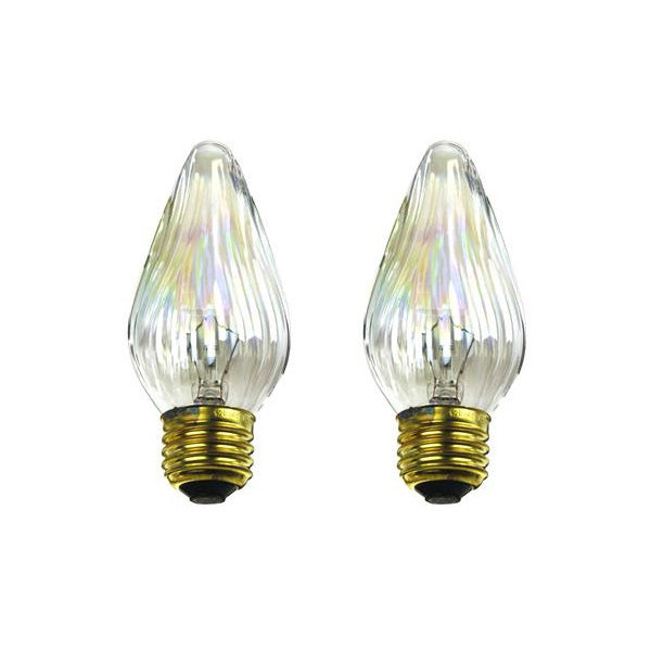 2Pk - Sunlite 25w 120v Medium Auradescent Flame Twist Aurora 33020-SU lamp
