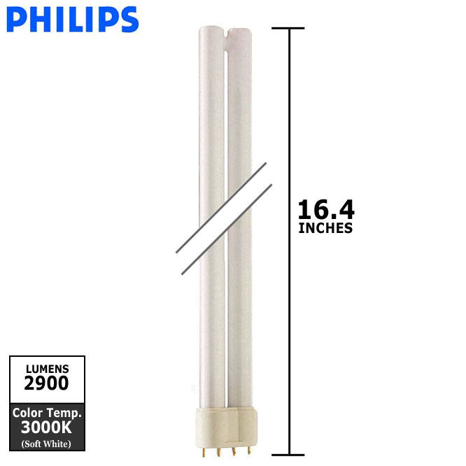 Philips 36w 2G11 PL-L Single Tube 4-Pin 3000K fluorescent Light Bulb