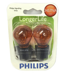 Philips 3457 NA LL - Natural Amber Long Life Halogen Automotive lamp - 2 Bulbs