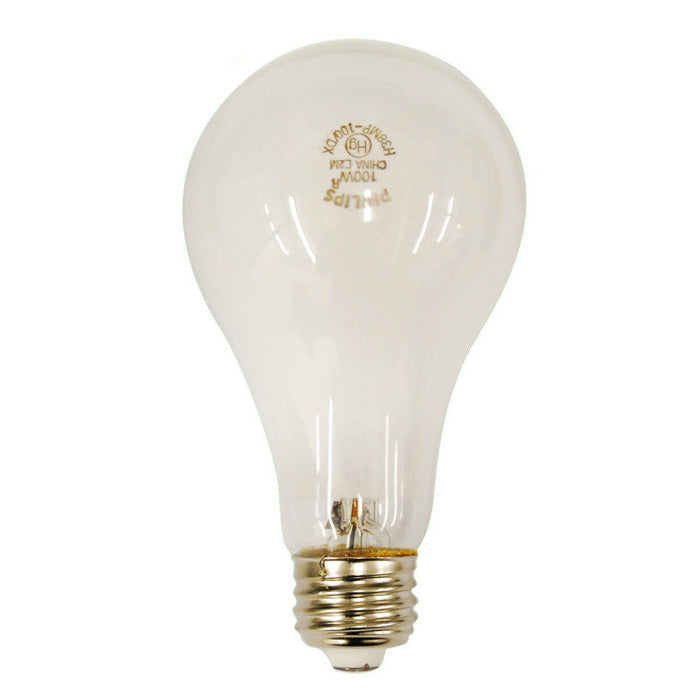 Philips H38MP-100DX 100w A23 3700K Cool White Mercury Vapor HG HID Light Bulb