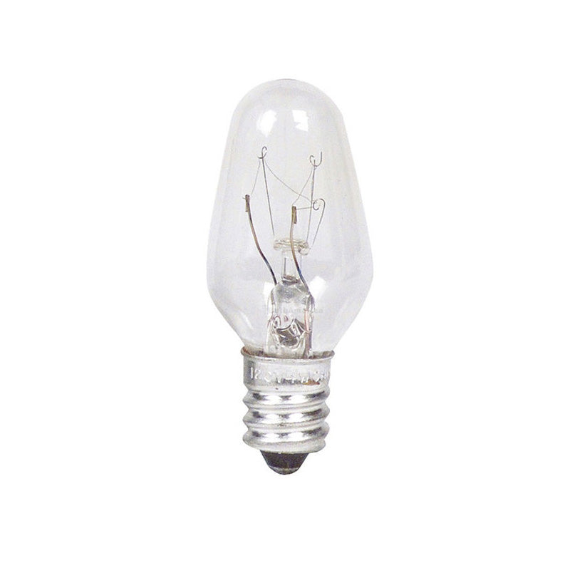 Philips 7w 120v C7 Clear E12 Indicator Incandescent Light Bulb