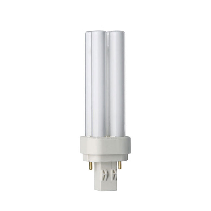 Philips 13w 2700k PL-C ALTO 13W/827 Double Tube 2-Pin Fluorescent Light Bulb