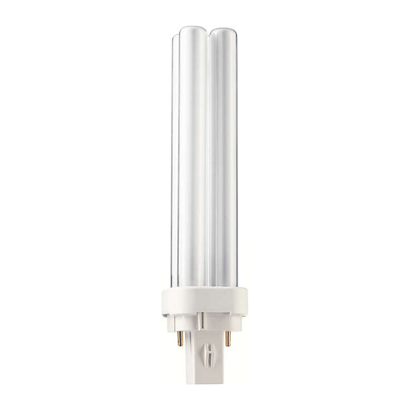Philips 18w Double Tube 2-Pin G24D-2 White 3500K Fluorescent Light Bulb