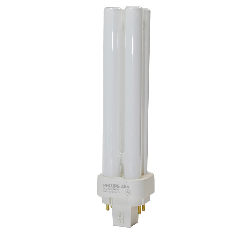 Philips 18w 4100k PL-C ALTO Double Tube G24q-2 4-Pin Fluorescent Light Bulb