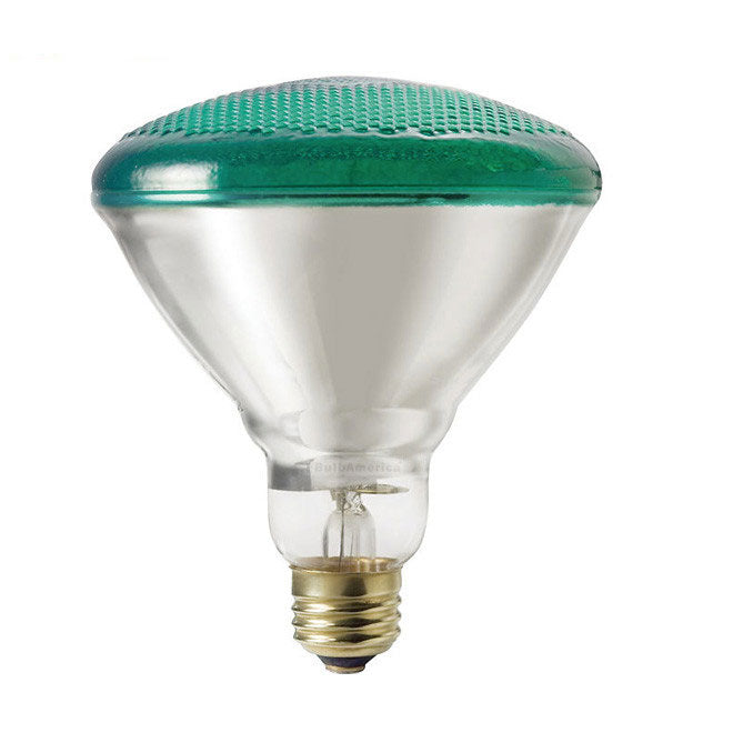 Philips 100w 120v E26 Green Reflector BR38 Flood Incandescent Light Bulb
