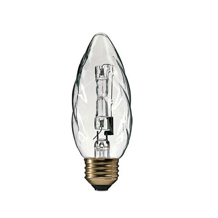 Philips 60w 120v Flame E26 Clear 2850K Halogen Decorative Light Bulb
