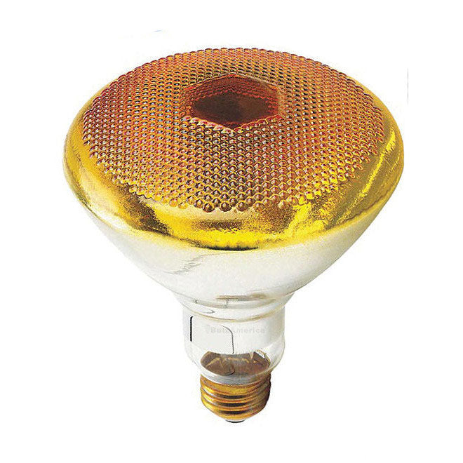 Philips 100w 120v Yellow E26 Reflector BR38 Flood Incandescent Light Bulb
