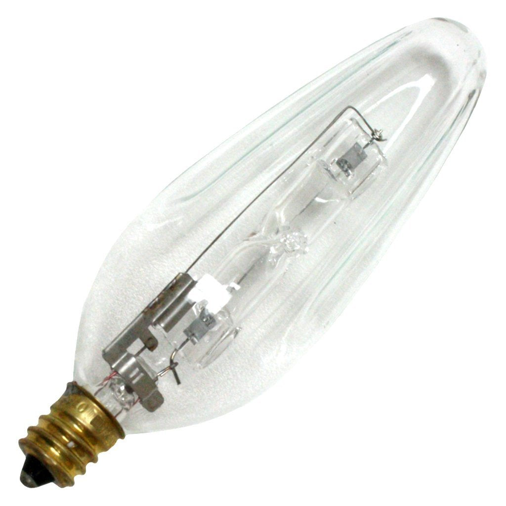 Philips 40w 120v Candelabra Flame Clear F10.5 Halogen Light Bulb